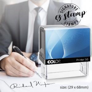 SIGNATURE STAMP - P50 (29x68mm)