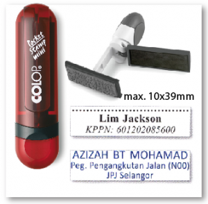 COLOP Mini Pocket stamp - RUBY (10x39mm)