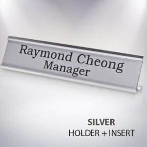 SILVER FRAME-DESK SIGN