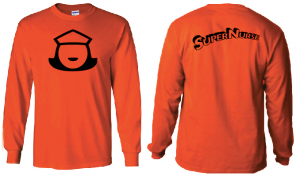 Super Nurse Tee 5 (Long Sleeve) - ORANGE (Bk)