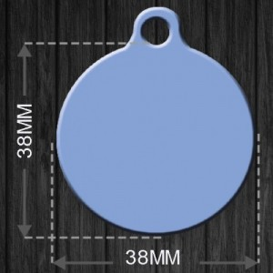 Pet Tag MEDAL_CURVE_