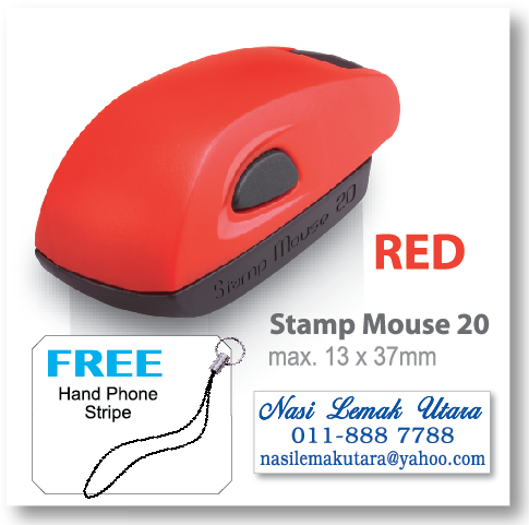 COLOP stamp Mouse 20 - Red