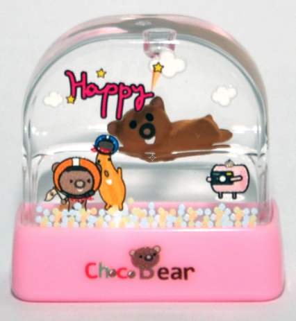 Choco Bear Stamp - WW10 (pink) 34 x 14mm