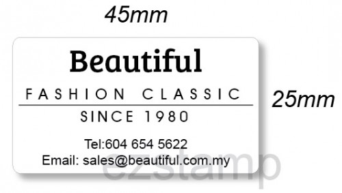 Plain Iron On Label (25x45mm)
