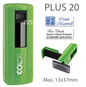 COLOP Pocket PLUS 20 - GREEN (13x37mm)