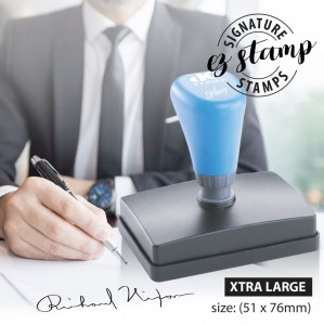 EXTRA LARGE SIGNATURE STAMP (51x76mm)