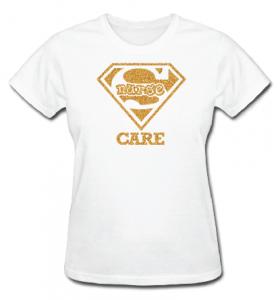 Super Nurse Care Tee 2- White