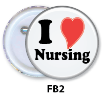 Nurse Button Badge - FB2