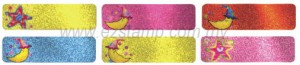 Lb5 缤纷星月  STARS &MOON name sticker 姓名贴纸