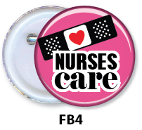 Nurse Button Badge - FB4