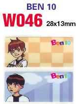 W046 Ben 10 (大) name sticker 姓名贴纸