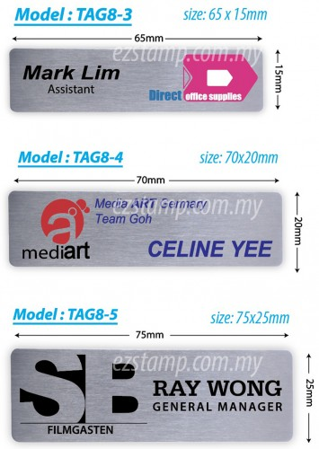 Stainless Steel SILVER Name Tag