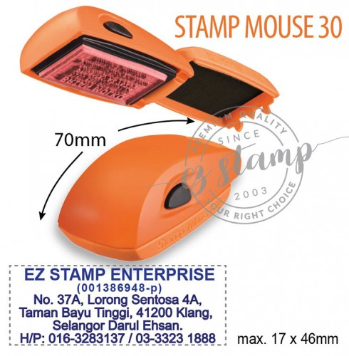 STAMP MOUSE 30 ORANGE