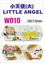 W010 小天使(大) LITTLE ANGEL name sticker 姓名贴纸