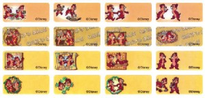 P070 奇奇蒂蒂 Chip & Dale name sticker 姓名贴纸