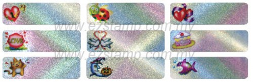 Lb3 综合图案 MIX ICON name sticker 姓名贴纸