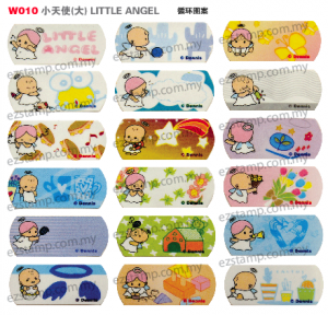 W010 小天使(大) LITTLE ANGEL name sticker 姓名贴纸