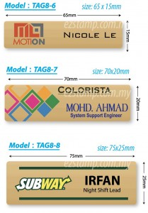 Stainless Steel GOLD Name Tag