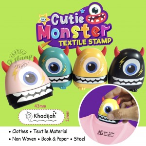 Textile Stamp Cutie Monster Series