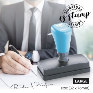 LARGE SIGNATURE STAMP (32x76mm)