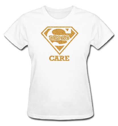 Super Nurse Care Tee 2- White