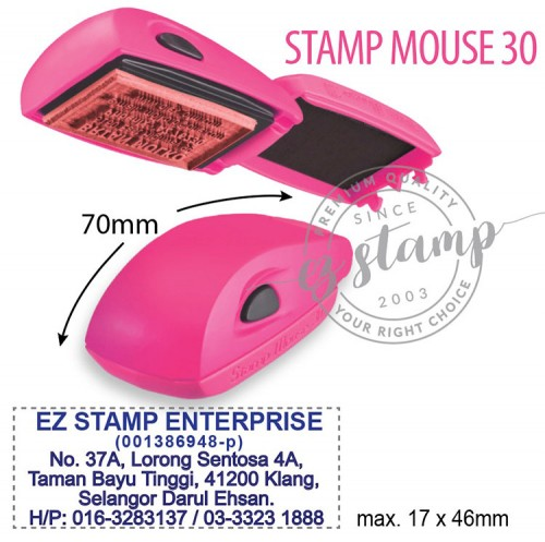 STAMP MOUSE 30 PINK