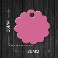 Pet Tag MEDAL_Flower_26MM