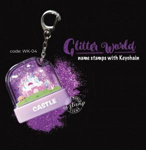 Glitter World Stamp - WK-04