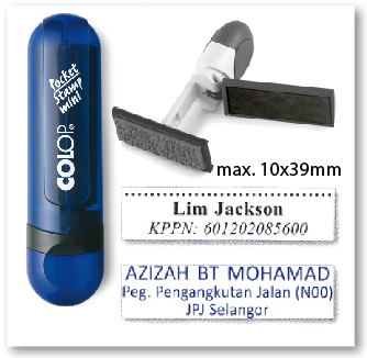 COLOP Mini Pocket stamp - INDIGO (10x39mm)