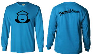 Super Nurse Tee 5 (Long Sleeve) - SEA BLUE (Bk)