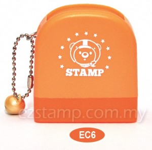 colorful choco bear name stamp