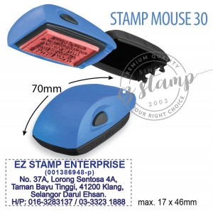 STAMP MOUSE 30 Blue (17x46mm)
