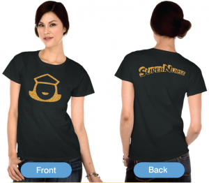 Super Nurse Tee 5- Black (Gold)