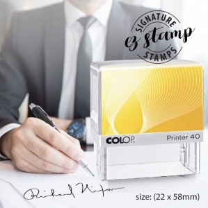 SIGNATURE STAMP - P40 (22x58mm)