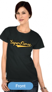 Super Nurse Tee 7- Black