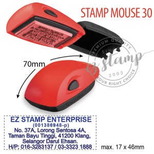 STAMP MOUSE 30 RED