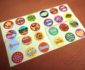 Teacher Reward Motivational Stickers