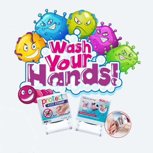 PROTECT KIDS STAMP wash your hand